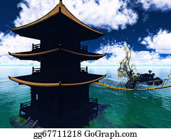 Buddhist - Buddhist Temple Over The Lake