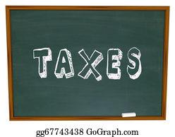 Tax-Return - Tax Word Chalk Board Fiancial Money Lesson Taxes Advice
