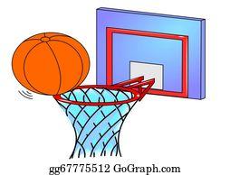 Basketball-Hoop - Basketball Hoop And An Orange Ball