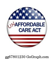 Health-Care - Not Affordable Care Act Button