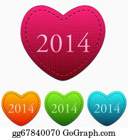 New-Year-2014 - New Year 2014 In Colorful Hearts
