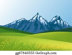 Bush-Of-Wild-Flowers - Mountain Background