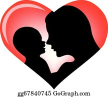 Babies-And-Toddlers-Silhouettes - Mother And Baby