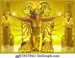 Priest - A Golden Egyptian Temple.