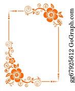 Orange-Border - Orange Flower Border