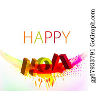 Holi-Festival-Celebration - Abstract Gulal Background Of Holi Text Festival Background