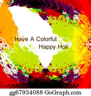 Holi-Festival-Celebration - Beautiful Grunge Colorful Holi Background Illustration