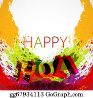 Holi-Festival-Celebration - Vector Stylish Beautiful Holi Festival Text Colorful Grunge Background