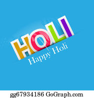 Holi-Festival-Celebration - Stylish For Colorful Happy Holi Text Design Vector Background