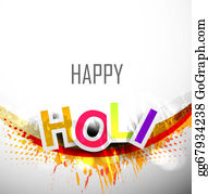 Holi-Festival-Celebration - Abstract Colorful Stylish Holi Text Festival Background For Design Vector