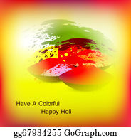 Holi-Festival-Celebration - Abstract Bright Colorful Holi Card Festival Background Vector