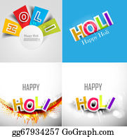 Holi-Festival-Celebration - Abstract Colorful Background For Stylish Holi Text Festival Collection Presentation Card Design Vector
