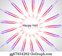 Holi-Festival-Celebration - Abstract Colorful Holi Celebration Pichkari Festival Background Vector