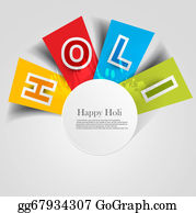Holi-Festival-Celebration - Abstract Colorful Background For Stylish  Holi Text Festival Design Vector