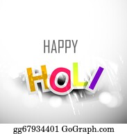 Holi-Festival-Celebration - Abstract Colorful Background For Stylish Holi Text Festival Design