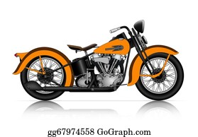 Motorcycle - Highly Detailed Illustration Of Classic Motorcycle