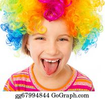 Wig - Little Girl In Clown Wig