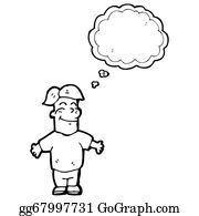 Funny-Bubble-Cartoon-Numbers - Cartoon Boy With Thought Bubble