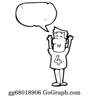 Funny-Bubble-Cartoon-Numbers - Cartoon Man In Shirt Number 4