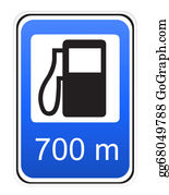 One-Direction-Road-Sign - Road Sign Refueling Illustration