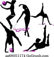 Gymnast - Girl Gymnast Athlete Isolated
