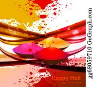 Holi-Festival-Celebration - Abstract Gulal Background For Holi Colorful Wave Festival Background