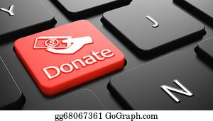 Fundraiser - Donate On Red Keyboard Button.