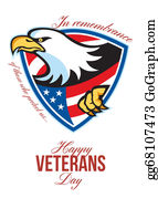 Veterans-Day - Happy Veterans Day American Eagle Greeting Card