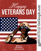 Veterans-Day - Veterans Day Greeting Card American