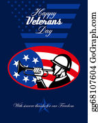 Veterans-Day - Modern Veterans Day American Soldier Greeting Card