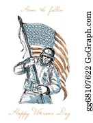 Veterans-Day - American Soldier Happy Veterans Day Greeting Card