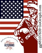 Veterans-Day - Veterans Day Modern American Soldier Card