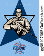 Veterans-Day - Modern Soldier Veterans Day Greeting Card Front