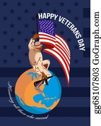 Veterans-Day - Modern American Veterans Day Greeting Card