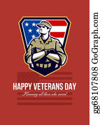 Veterans-Day - American Soldier Veterans Day Greeting Card