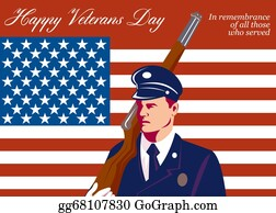 Veterans-Day - American Veterans Day Greeting Card Retro
