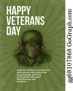 Veterans-Day - World War Two Veterans Day Soldier Card Sketch