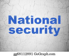 Wall-Background - Privacy Concept: National Security On Wall Background