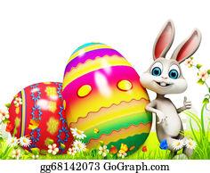 Basket - Easter Bunny With Big Eggs