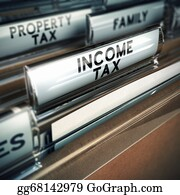 Income-Tax - Income Tax - Taxes Concept