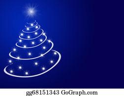 Christmas-Advent-Candles - Christmas Tree On Blue