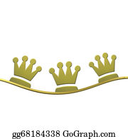 Three-Kings - Christmas Background, Crowns Of The Three Wise Men