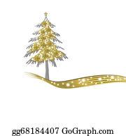Fleur-De-Lys - Luxurious Gold Christmas Tree And Stars