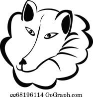 Huskies - Wolf Or Snow Dog Logo