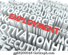 Employment - Employment. Wordcloud Concept.