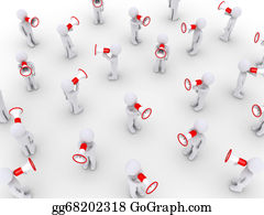 Public-Speaking - Many People Speaking With Megaphones
