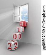 Calendar-For-January-2014 - New Year 2014 Dice Step Door