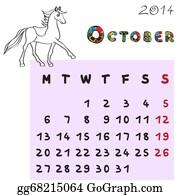 Calendar-For-January-2014 - Horse Calendar 2014 October