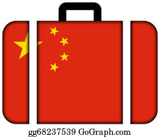 Suitcase - Suitcase With China Flag