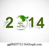 Happy-New-Year-2014 - Happy New Year 2014 Green Colorful Background Vector